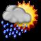 Bewölkt mit mäßigem Regen