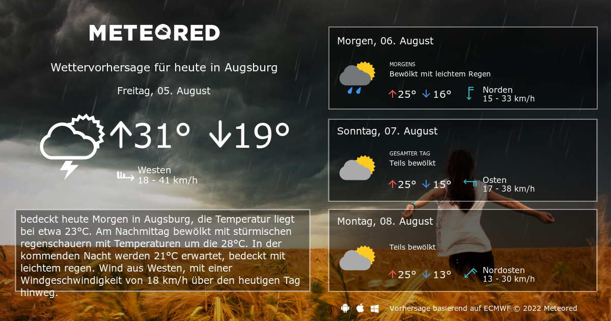 wetter augsburg 7 tage