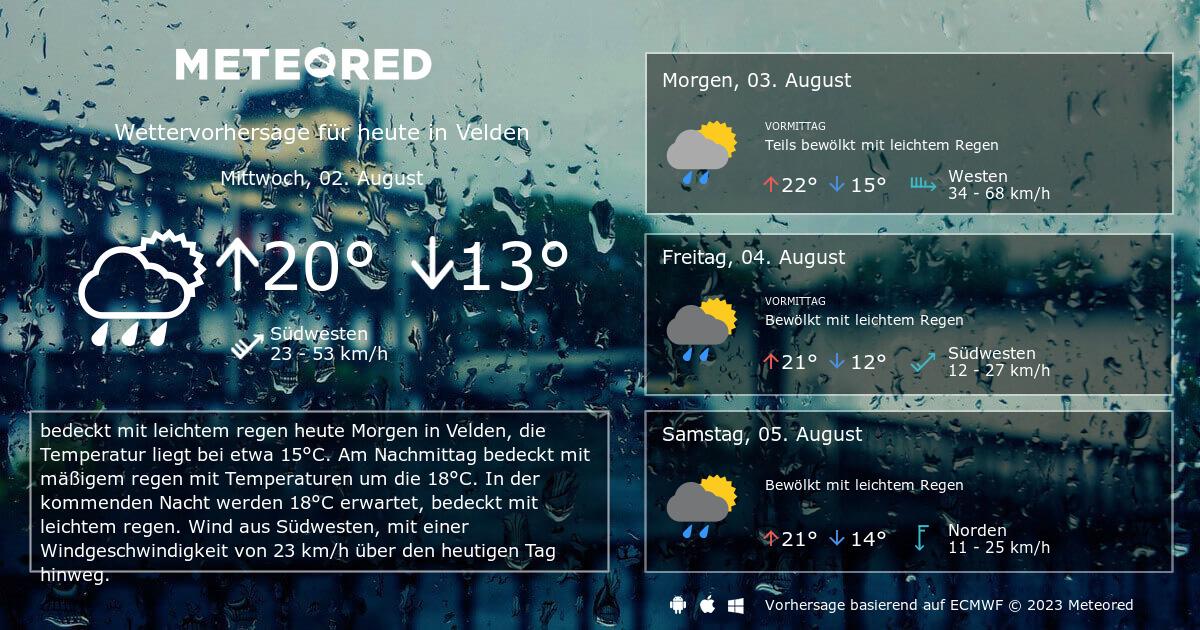 Wetter 91235 Velden